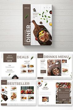Atmospheric fashion simple western food Brochure#pikbest#templates Food Graphic Design, Design Food, Web Design, Flyer Design, Brochure Food, Brochure Layout, Brochure Design, Magazine Layout Design, Book Design Layout