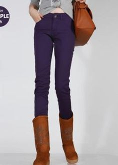 $17.50 Trendy Candy color Pencil Trousers