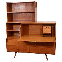 Mid Century Paul McCobb Planner Group Wall Unit