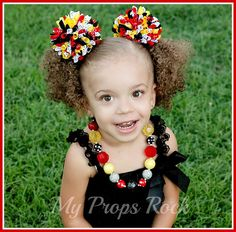 "New ""Minnie Classic"" Red Black Yellow Baubles and Bling Chunky Bead Necklace"