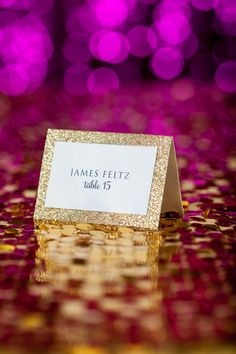 Glitter dipped place cards gold silver or pink glitter on your escort cards place cards seating cards for any suite glitter escort cards for your glam wedding solutioingenieria Images