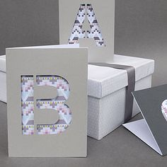 Stacy's bday card idea  Cut Out Geometric Monogram Card