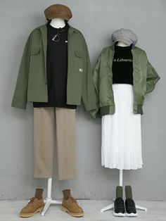 Cute Lazy Outfits, Edgy Outfits, Fashion Outfits, Clueless Fashion, Matching Couple Outfits, Casual Hijab Outfit, Fashion Couple, Korea Fashion, Looks Style