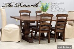 The Patriarch Is One Of Our Favorite Farmhouse Tables Contact Us To Get Yours Custom Made By Southern And Furniture