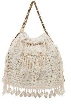 STELLA MCCARTNEY  Crochet Big Tote in White  $2,495