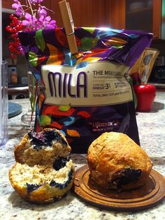 Mila Blueberry Muffins Recipe! Mila is full of Omega-3s-much better than a fish oil pill dontcha think?