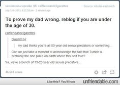 The only thing we're sexual predators towards is 30 year old british guys