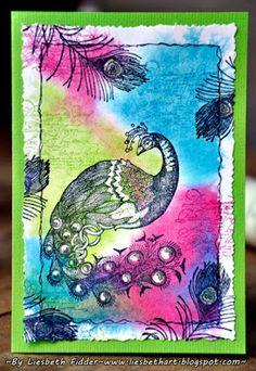 Liesbeth's Arts & Crafts: Acrylblok ,stempelen'.