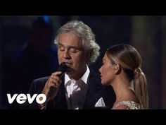 Andrea Bocelli, Nicole Scherzinger - No Llores Por Mi Argentina - YouTube ... The emotion on Nicole's face as she sings with The Voice, Andrea Bocelli, is so beautiful.