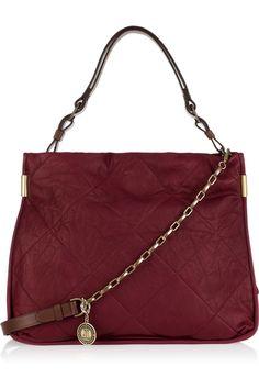 Amalia quilted leather shoulder bag by Lanvin #Handbag #Lanvin