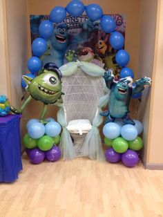 monsters inc Baby Shower Party Ideas | Photo 1 of 14 | Catch My Party --- http://tipsalud.com -----