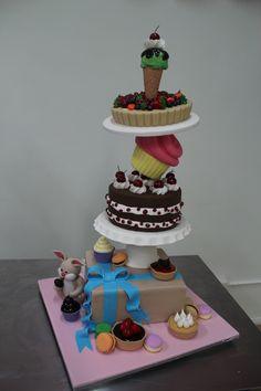 3d gravity defying 'Desert Deluxe' Cake Tower!!