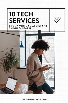 What's the best way to level up your Virtual Assistant business?...Nailed it! By offering high level services. Click here to learn more about the 10 TOP tech services you should learn as a Virtual Assistant! #WorkFromHome #VirtualAssistant
