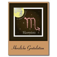 Skorpion 24. Oktober bis 22. November Postkarte