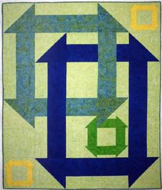 Modern Churn quilt by Tamarinis as seen at Auribuzz