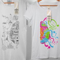 Cerebro izquierdo cerebro derecho par camiseta por FreshTshirtCo