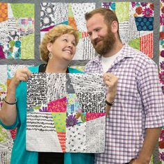 Jenny and her son Josh show us how to create a show-stopping star quilt called Josh's Star.