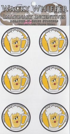 Wacky Whiffer Scratch and Sniff Stickers Beer Scented! ITM#SII032E3 #WackyWhiffer #ScratchSniff