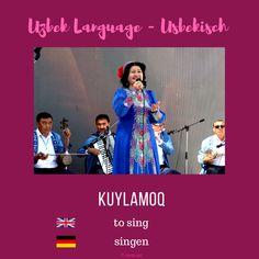 "Uzbek ""to sing""; Usbekisch ""singen"" More information on instagram or on my blog www.sariq-qiz.com #uzbek #usbekisch #uzbeklanguage #usbekischesprache #languages #learnuzbek #lerneusbekisch Language, Blog, Instagram, Languages, Blogging, Language Arts"