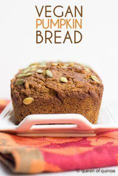 Vegan Pumpkin Bread Recipe that's also gluten-free and Clean Program friendly!
