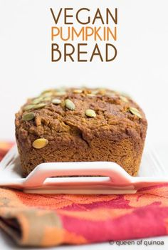 Vegan Pumpkin Bread Recipe that's also gluten-free and Clean Program friendly!