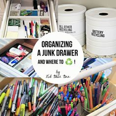 Organizing and Recycling Junk Drawer Contents...and where to recycle