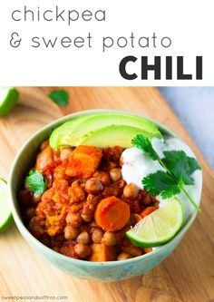 Chickpea & Sweet Potato Chili | 21 Vegetarian Dump Dinners You Can Make In A Crock Pot