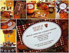 Thanksgiving Invitation and party decor #thanksgiving #invitation