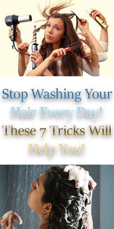 Stop Washing Your Hair Every Day! These 7 Tricks Will Help You #tips #tricks