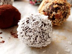 make truffles and give w/ a bottle of wine or even a glass bottle of almond milk - perfect holiday gift.