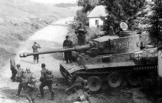 """German heavy tank Pz.Kpfw. VI """"Tiger"""" with the tactical number """"231"""" from the 503th Tank Battalion, in the Belgorod area (Soviet Union). - The German offensive operation """"Citadel""""."""