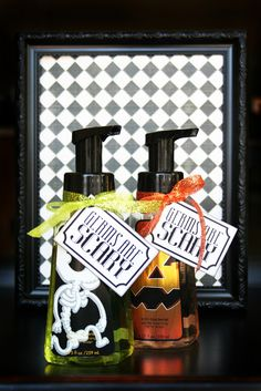 Germs are Scary!  Cute simple gift idea.