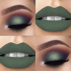 Nice green makeup style Nice green makeup style – Das schönste Make-up Make Up Looks, Gorgeous Makeup, Pretty Makeup, Eyeshadow Makeup, Lip Makeup, Fall Eyeshadow, Green Eyeshadow, Clown Makeup, Gold Makeup