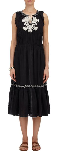 Ulla Johnson Embroidered Voile Maxi Dress at Barneys.com