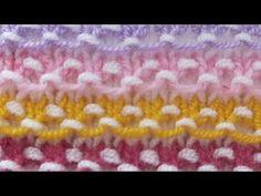 Knitting Videos, Bargello, Free Baby Stuff, Crochet, Knitting Patterns, Rainbow, Make It Yourself, Blanket, How To Make