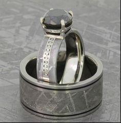 Popular extraordinary mens diamond wedding rings meteorite with meteorite wedding rings