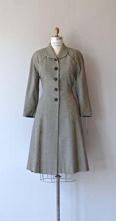 Bexley Check wool coat 1940s prinecss coat vintage by DearGolden