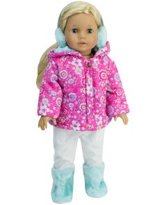 "Star Puffy Vest Pant Set Fits 18/"" American Girl Doll Clothes"