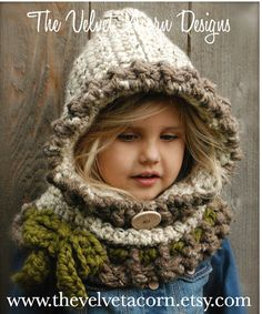 This is a listing for The PATTERN ONLY for The Graslyn Hood    This hooded cowl is handcrafted and designed with comfort and warmth in mind... Perfect for layering through all the seasons...    This hooded cowl makes a wonderful gift and of course also something great for you or your little one to wrap up in!    All patterns written in standard US terms!    *Sizes: 6/12 months, 12/18 months, Toddler, Child, Adult  *Any Super Bulky yarn    ***You can always contact me if you have any...