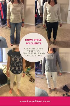 Behind-the-scenes with real people and find out how I style my clients in real life. See the outfits I create from my client's wardrobes (shopping their clos. Wardrobes, Confident, What To Wear, Style Me, Capri Pants, Stylists, Challenges, Age, Goals