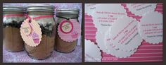 Baby Shower Party Favor: Cupcake Mix in a Mason Jar! #partyfavor