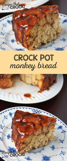 Delicious Crock Pot Monkey Bread kid-friendly recipe!