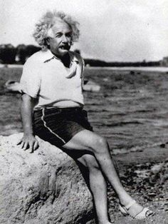 weirdvintage:   Albert Einstein looking sassy in... - WeirdVintage