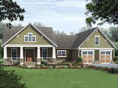 front--Craftsman Style House Plan - 3 Beds 2 Baths 1800 Sq/Ft Plan #21-345 Main Floor Plan - Houseplans.com Change-Open up DR.