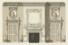 Section for a drawing room design