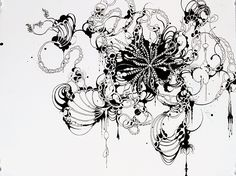 """Laura Bell 'Tangle #4', Ink on paper, 16"""" x 20"""", 2012"""