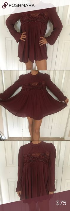 Free people high neck dress sz S The picture says it all! One of my favorite free people dresses. Super cute and fun. Worn only a hand full of times Free People Dresses