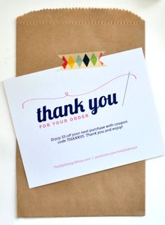 31 best business thank you card messages pinterest messages thank you for your order printable instant download elegantly sewn colourmoves