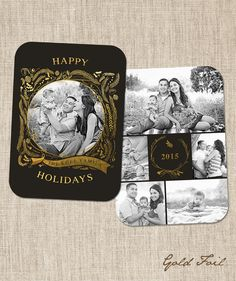 Gold Foil   Boutique Holiday Card Template by frankandfrida
