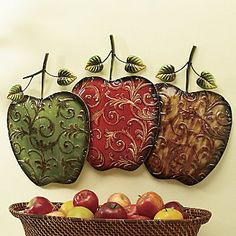 Hand Painted Apples Wall Art From Ginny S Apple Kitchen Decorkitchen